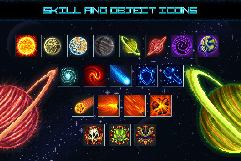 Space Shooter Creation Kit Pixel Art