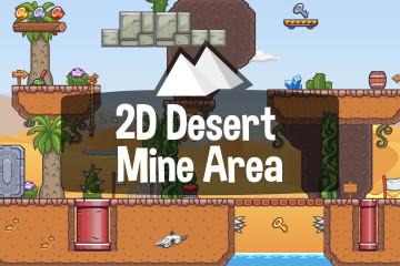 Desert Mine Area 2D Game Tileset