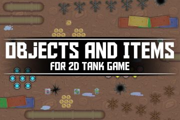 Free Objects and Items for 2D Tank Game