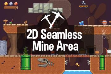 Seamless Mine Area 2D Game Tileset