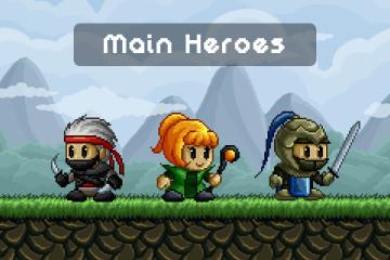 Pixel Art Characters for Platformer Games
