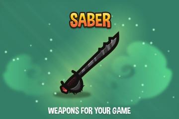 Saber 2D Weapon Pack