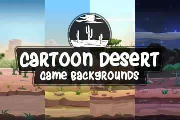 Cartoon Desert Game Backgrounds
