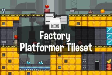 Factory Platformer Game Tileset