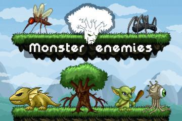 Pixel Art Monster Enemy Game Sprites