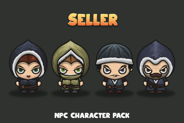 Seller NPC Character Pack 4