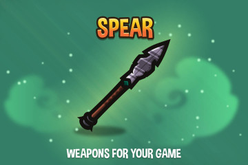 Spear 2D Weapon Pack