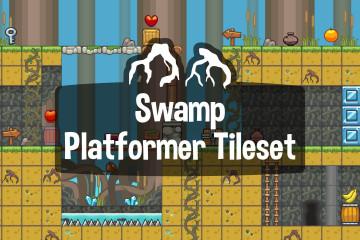Swamp Platformer Game 2D Tileset