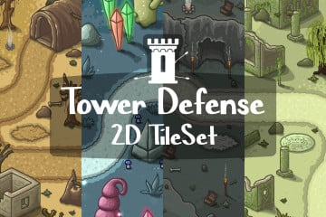 Tower Defense 2D Tileset Pack 3