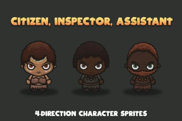 Tropical 4-Direction Character Sprites
