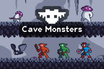 Cave Monster Pixel Art Game Sprite Pack