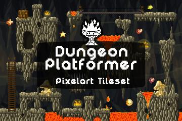Free Dungeon Platformer Pixel Art Tileset