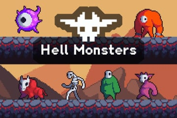 Hell Monster Pixel Art Game Sprite Pack