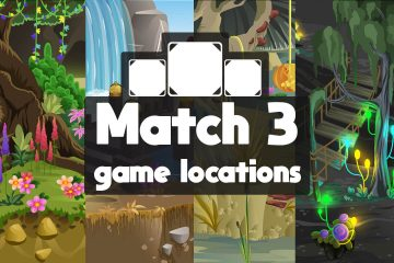 Match 3 Game locations