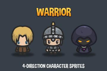 Warrior 4-Direction Character Sprites