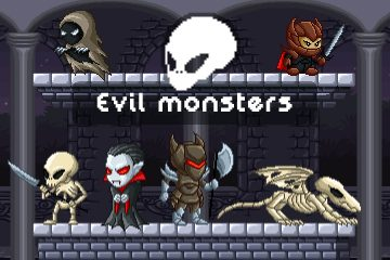 2D Pixel Art Evil Monster Sprites