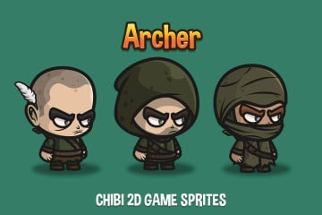 Archer Chibi 2D Game Sprites