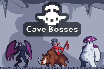 Cave Bosses Pixel Art Game Sprites