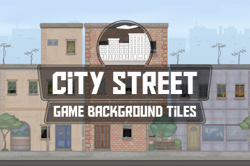 City Street Game Background Tiles