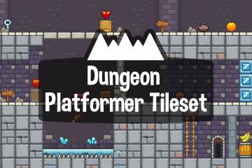 Dungeon Platformer Game Tileset