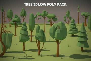 Free Tree 3D Low Poly Pack