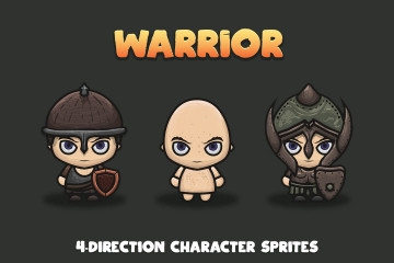 Free Warrior 4-direction Character Sprites