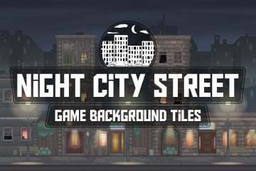Night City Street Game Background Tiles