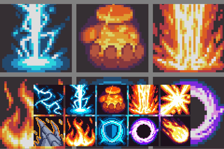 10 Magic Sprite Sheet Effects Pixel Art