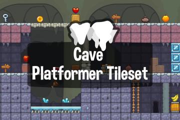 Cave Platformer 2D Game Tileset