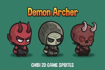 Demon Archer Chibi Game Sprites