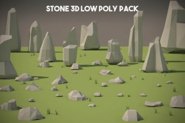 Free Stone 3D Low Poly Models