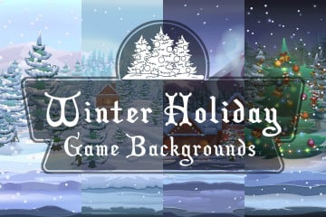 Free Winter Holiday Game Backgrounds