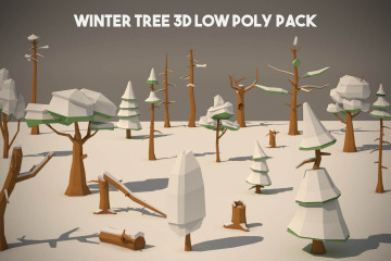 Free Winter Tree 3D Low Poly Models