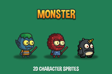 Monster 2D Character Sprites
