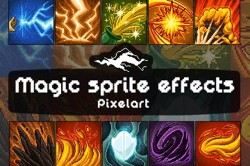Pixel Art Magic Sprite Effects and Icons Pack