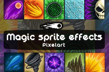 10 Magic Effects Pixel Art Pack