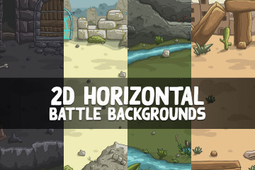 2D Horizontal Battle Backgrounds