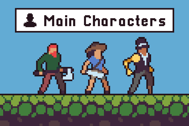 Free 3 Character Sprite Sheets Pixel Art Craftpix Net