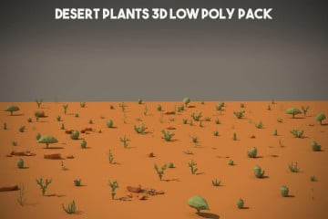 Free Desert Plant 3D Low Poly Models