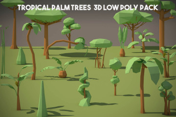 Free Tropical Palm Tree 3D Low Poly Models
