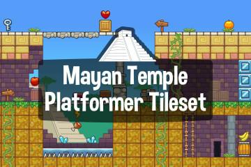 Mayan Temple Platformer Game Tileset