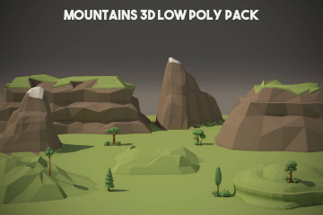 Mountain 3D Low Poly Models