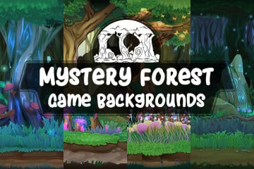 Mystery Forest Game Backgrounds