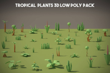Tropical Plant 3D Low Poly Models