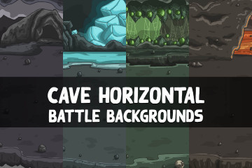 Cave Horizontal Battle Backgrounds