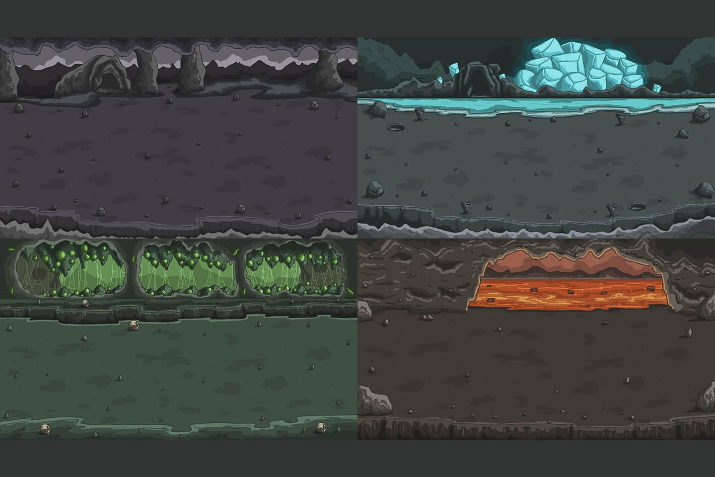 Cave Horizontal Battle Backgrounds Craftpix Net