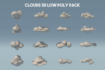Cloud 3D Low Poly Models