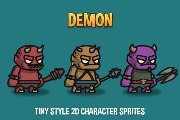 Demon Tiny Style 2D Character Sprites