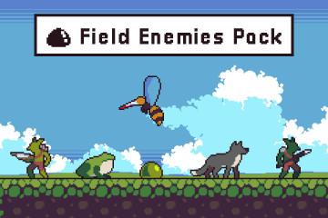 Field Enemies Game Sprite Sheets Pixel Art