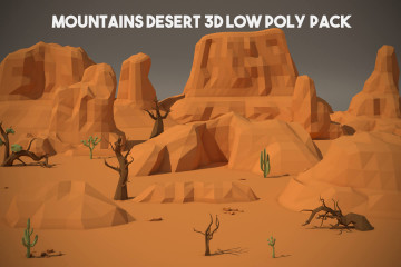 Free Desert Mountain 3D Low Poly Models